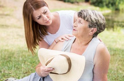 Overheated Elderly Person