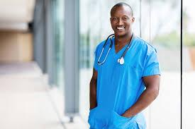 male nurse in hospital