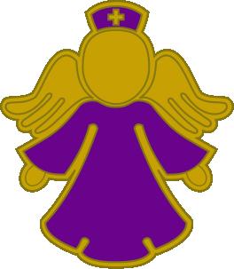 purple nurse angel pin